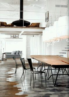 industrial loft designed by Paola Navone