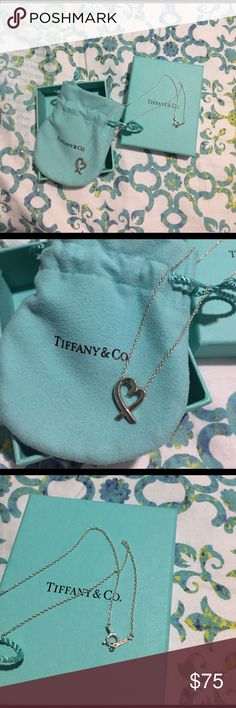 Tiffany Pendant Necklace Tiffany's sterling silver pendant necklace. Worn less than a handful of times. Includes original pouch and box! Tiffany & Co. Jewelry Necklaces