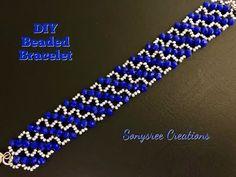 Right Angle Weave Beaded Bracelet 💞 - YouTube