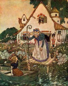 1920's fairytale illustration