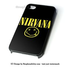 Nirvana Tee iPhone 4 4S 5 5S 5C 6 6 Plus , iPod 4 5 , Samsung Galaxy S – Resphonebility