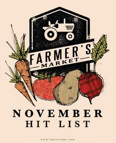 Farmers Market Shopping List For November