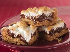Warm Toasted Marshmallow S'mores Bars  Try with Marshmellow Creme