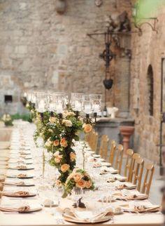 A Tuscan table setting