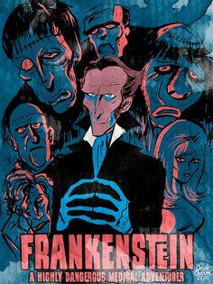 Derek Charm's take on Hammer's cycle of Frankenstein films
