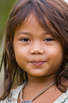 Love the little smile.. such a cute Cambodian girl!