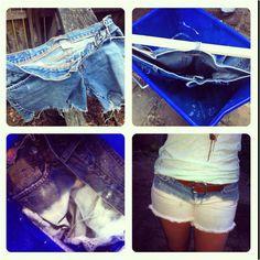 bleached denim shorts #diy