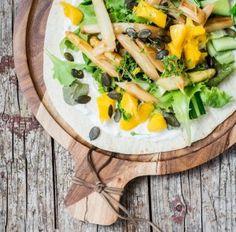 Spargelwraps mit Mango, Gurke & Kresse - Handmade Kultur
