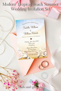 A wonderful wedding and beach vows are a great idea to celebrate your big day. Make sure your loved ones don't miss the wedding boat by sending you our tropical starfish wedding invitations. From bright beach colors and designs to sandy and elegant seashells and starfish, these are sure to be the perfect wedding invitations for your adventure. Do not hesitate to contact me for custom-made products and design requests.