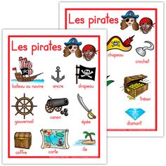Affiches, les pirates Pirate Preschool, Pirate Activities, Summer Activities, Pirate Scavenger Hunts, Scavenger Hunt For Kids, Pirate Hats, Pirate Theme, Early Learning, Kids Learning
