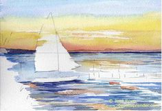 tutoriales para aprender a pintar marina con acuarela