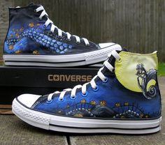 ac2051308eb Custom Hand Painted Converse Shoes The Nightmare Before Christmas Jack and  Sally Trendy Shoes