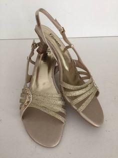 sandália em couro pelica - salto 5 cm - cor ouro claro - 43 - rev0137-43 - sandálias sem marca