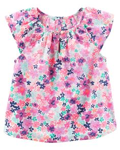 Baby Girl Floral Poplin Peasant Top from OshKosh B'gosh. Shop clothing & accessories from a trusted name in kids, toddlers, and baby clothes.