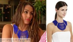 Nikki-Bella-blue-necklace BCBGMAXAZRIA draped bead necklace in larks pure blue. Sold out. Wwe Total Divas, Wwe Divas, Nikki Bella, Blue Necklace, Season 3, Tv Shows, Bead, Pure Products, Tips