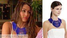 Nikki Bella blue necklace