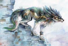 The Legend of Zelda: Twilight Princess, Wolf Link / Twilight realm by EchoGreens on deviantART