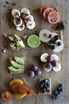 Modern Danish open faced sandwiches... mmm, I love a simple fresh lunch ploughman's style lunch: