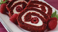 New Easy Cake : Red velvet cake roll, - Cake - Red Velvet Cake Frosting, Red Velvet Cake Roll, Red Velvet Desserts, Cupcakes, Cupcake Cakes, Köstliche Desserts, Delicious Desserts, Dessert Recipes, Cake Roll Recipes
