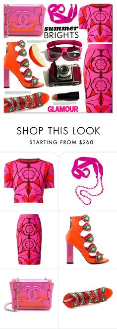 """Summer Brights"" by barbarela11 ❤ liked on Polyvore featuring Alexander McQueen, Lanvin, Kat Maconie and Chanel"