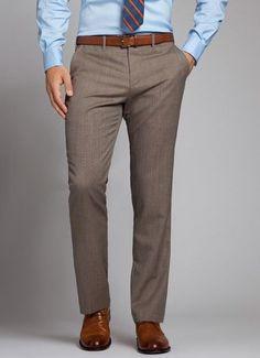 The perfect mid gray men& dress pant via Bonobos Der Gentleman, Gentleman Style, Sharp Dressed Man, Well Dressed Men, Mens Fashion Suits, Mens Suits, Suit Men, Mens Dress Pants, Men Dress