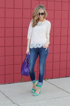Lilly Style: Lace top