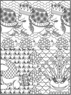 From Creative Haven Awesome Animal Designs Coloring Book