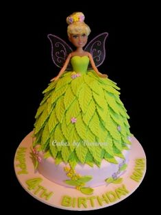 How to make fondant leaves to use on a Tinkerbell cake