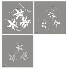 Wild Orchid Stencil