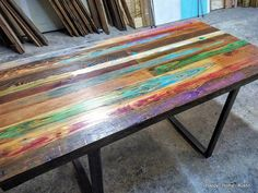 Please read before purchasing this listing.  This listing is for a CUSTOM made- to-order dining table made from high quality reclaimed wood (similar to that shown in the pictures) with metal legs. I can make your table any size and color youd like! I use paint to enhance the grain of the wood, and no two tables are alike. Measurements at this price point would be up to 50x30. These dimensions can be adjusted according to your preferences. Contact me prior to purchase if you want some other…