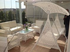 Ozcan Tublek Evi : Modern Balkon, Veranda & Teras HEBART MİMARLIK DEKORASYON HZMT.LTD.ŞTİ.