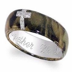 i think these are pretty awesome. they actually have camo wedding rings. there are alot more types Camouflage Wedding Rings, Camo Rings, Camp Wedding, Wedding Bands, Wedding Ideas, Wedding Stuff, Dream Wedding, Wedding Country, Wedding Themes