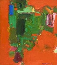 Hans Hofmann. I like looking through the bright red.