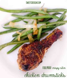 foolproof crispy skin chicken drumsticks- easy, delicious and #paleo friendly!