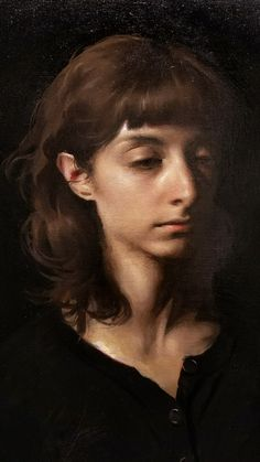 Jordan Sokol, Abyss (detail) Oil on Linen, 2017 Oil Portrait, Digital Portrait, Florence Academy Of Art, Painting Workshop, Realism Art, Beautiful Paintings, Figure Painting, Contemporary Paintings, Figurative Art