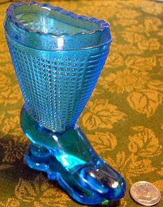 Vintage LE Smith Glass Miniature Boot
