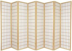 6 ft. Tall Window Pane Shoji Screen   RoomDividers.com