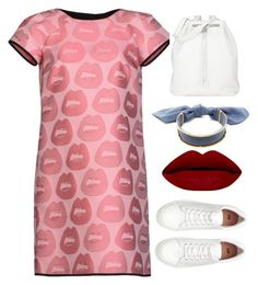 """Red Lip 2"" by christenamelea on Polyvore featuring Giles, The Row and Monica Sordo"