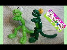 Ballon Animals, Balloon Crafts, Balloon Dress, Craft Activities, Sculptures, Youtube Youtube, Kids, Character, Party