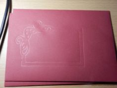 Umschlag Rot Embossing