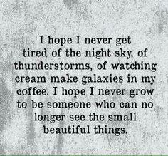 Small things ...