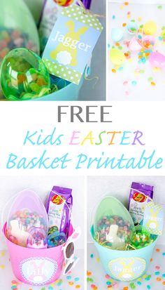 Kids easter basket ideas with FREE Printables