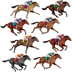Horse Racing Tablecover Tablecloth Race Track Finish Derby Birthday Party Event