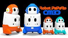 Buenos días, el modelado de hoy es una versión al estilo CM3D del robot PaPeRo...