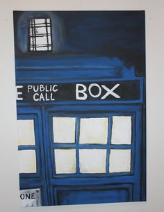 You Call Me Sexy, TARDIS Doctor who inspired art special reduced holiday pricing on Etsy, $200.00