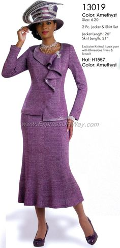 Knit Church Suits by Donna Vinci for Fall 2014 - www.expressurway.com, Donna Vinci, Church Suits, Womens Church Suits, Church Suits by Donna Vinci, Fall 2014