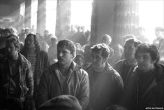 Miners in Easington during the miners' strike of 1984. Copyright: Keith Pattison