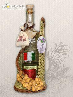 Оливковая подставка под бутылку