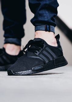 "Adidas NMD R1 "" Triple Black""."