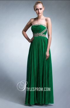 Elegant Prom Dresses Trends 2013 [PHOTOS] Chiffon dress with pleated skirt and border decorated with crystals Sequin Formal Dress, Elegant Prom Dresses, Cheap Prom Dresses, Strapless Dress Formal, Beautiful Dresses, Formal Dresses, Prom Gowns, Formal Prom, Evening Dresses Online